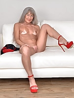 Naughty older lady getting very wet and wild