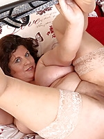 Naughty British housewife getting frisky
